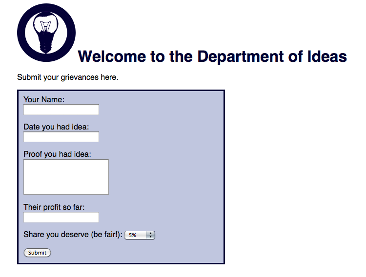 The Department of Ideas